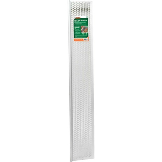 Frost King 3 Ft. White Vinyl Snap-In Gutter Screen