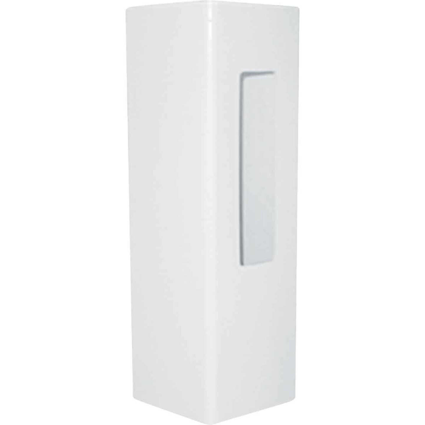 Outdoor Essentials 5 In. x 5 In. x 60 In. White End 2-Rail Fence Vinyl Post Image 2
