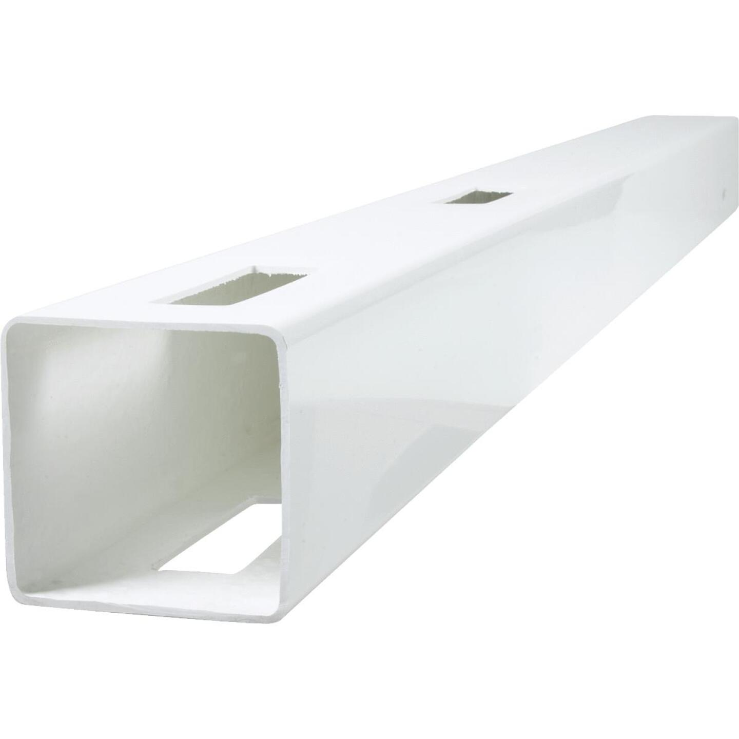 Outdoor Essentials 5 In. x 5 In. x 60 In. White Line 2-Rail Fence Vinyl Post Image 3