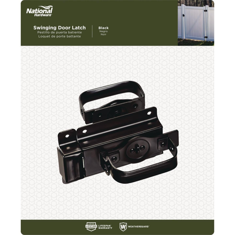 National Black Steel Swinging Door Latch Image 2