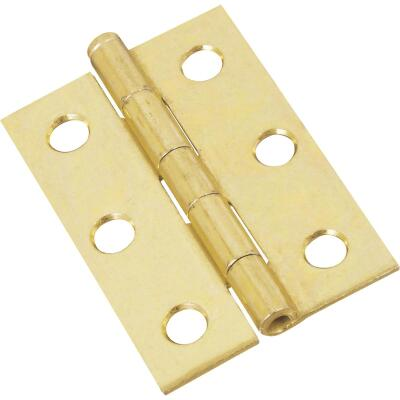 National 2-1/2 In. Brass Loose-Pin Narrow Hinge (2-Pack)