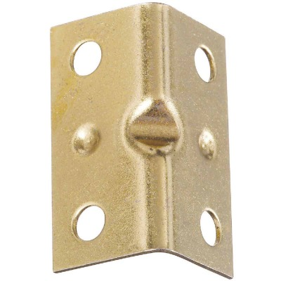 National Catalog V113 Series 1-1/2 In. x 3/4 In. Brass Corner Brace (4-Count)
