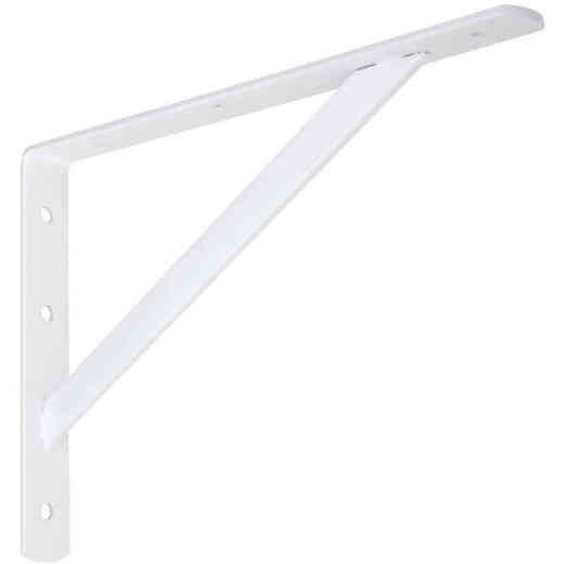 National 111 12 In. White Steel Super Strength Shelf Bracket