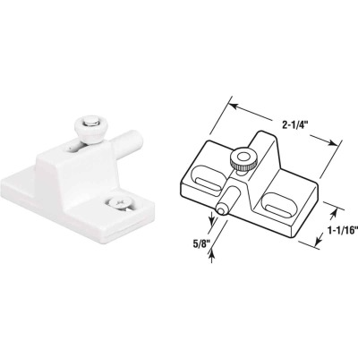Defender Security White Slide Bolt Patio Door Lock