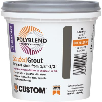 Custom Building Products Polyblend 1 Lb. Natural Gray Sanded Tile Grout