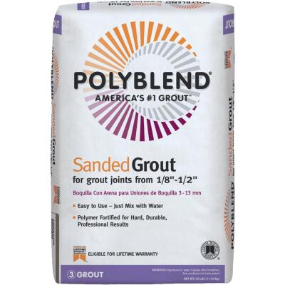 Custom Building Products Polyblend 25 Lb. Fawn Sanded Tile Grout