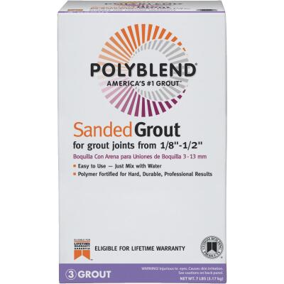 Custom Building Products Polyblend 7 Lb. Natural Gray Sanded Tile Grout