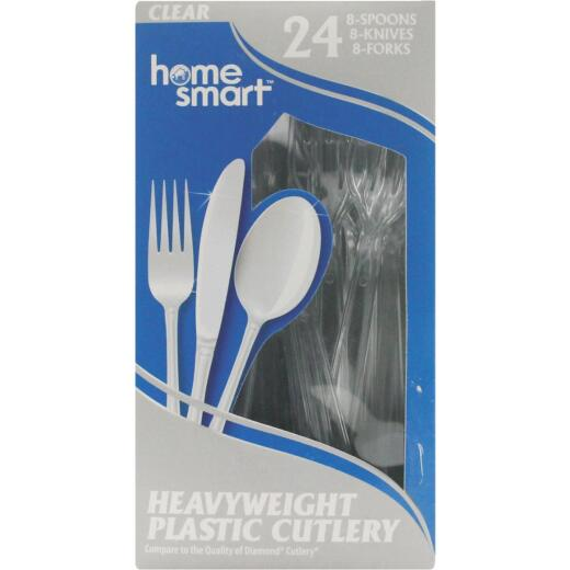 Home Smart Plastic 24 Plastic Cutlery Sets