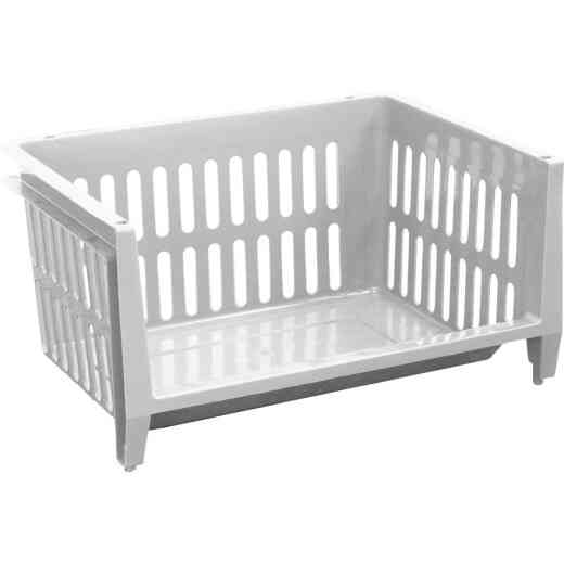 GSC White Jumbo Stacking Basket