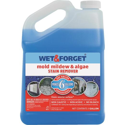 Wet & Forget 1 Gal. Liquid Concentrate Mildew, Algae, & Mold Stain Remover