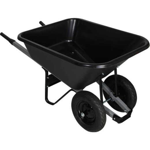 Truper 8 Cu. Ft. Poly Wheelbarrow