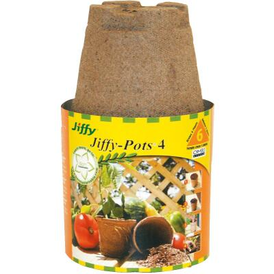 Jiffy 4 In. W. Round Peat Pot (6-Pack)