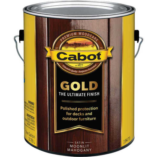 Cabot Gold Low VOC Exterior Stain, Moonlit Mahagony, 1 Gal.