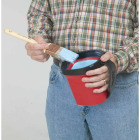 HANDy Paint Pail 1 Qt. Red Painter's Bucket w/Adjustable Strap And Magnetic Brush Holder Image 2